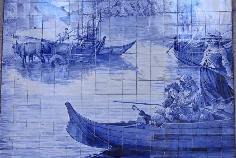 Iconografia do Barco Rabelo na azulejaria 18