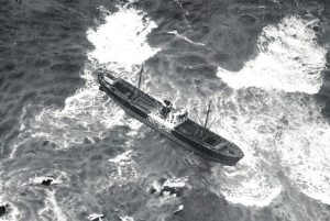revistademarinha, cuf, acidente, marinha mercante, leixões, salvamento marítimo, francelos, mar, atlântico, navio