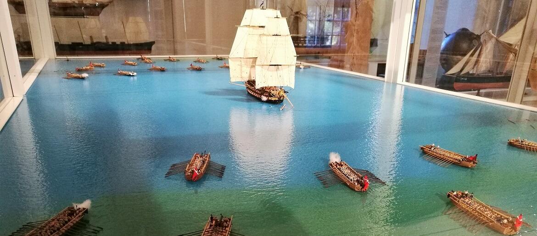 Os dioramas do Orlogsmuseet – A batalha de canhoneiras de Dragør