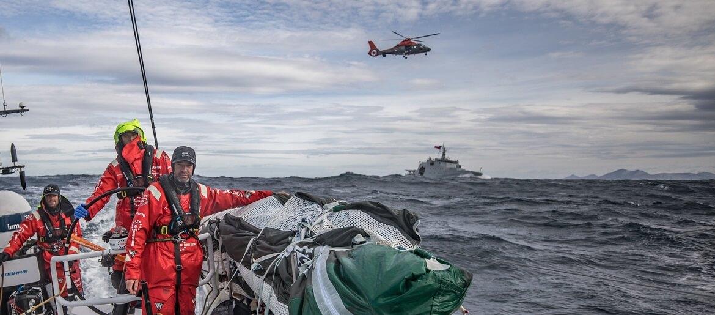 A VOR no Cabo Horn, vista pela Marinha do Chile