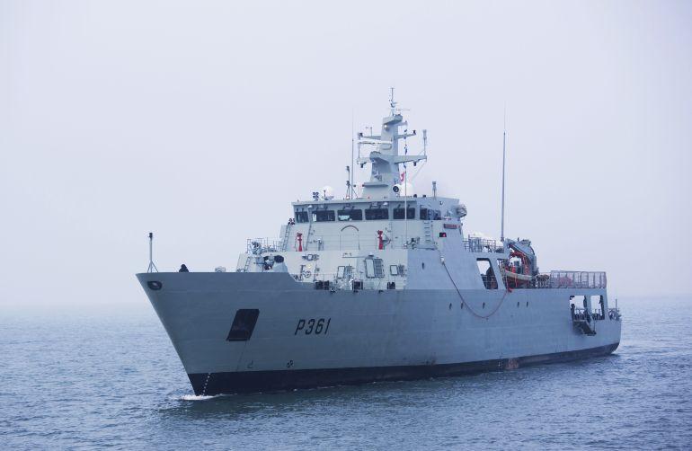 O navio patrulha oceânico NRP FIGUEIRA DA FOZ (foto Marinha Portuguesa)