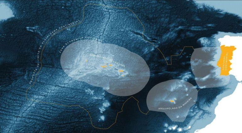 Portugal, a sua ZEE e a proposta de extensão da área de jurisdição sobre a plataforma continental. (imagem EMEPC)