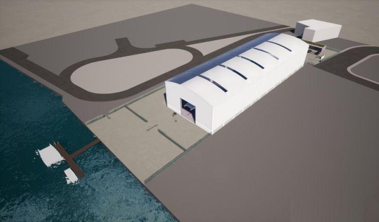 Projeto virtual do novo estaleiro (foto SunConcept)