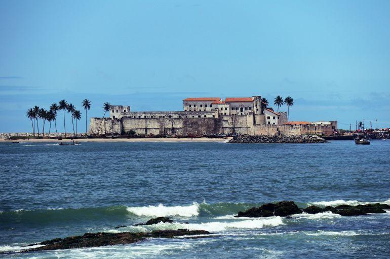 O Forte da Mina ou Elmina. Foi conquistada por uma expedição holandesa que partiu do Recife em 1637 (foto Obibini)