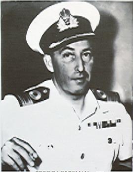 O comodoro A.G. Foreman, primeiro comandante da Marinha do Gana, 1959-61 (foto Ghana Navy)