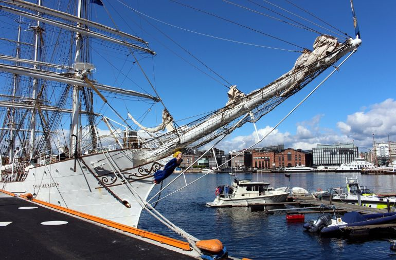 O porto de Oslo foto de Alex von Gutthenbach-Lindau