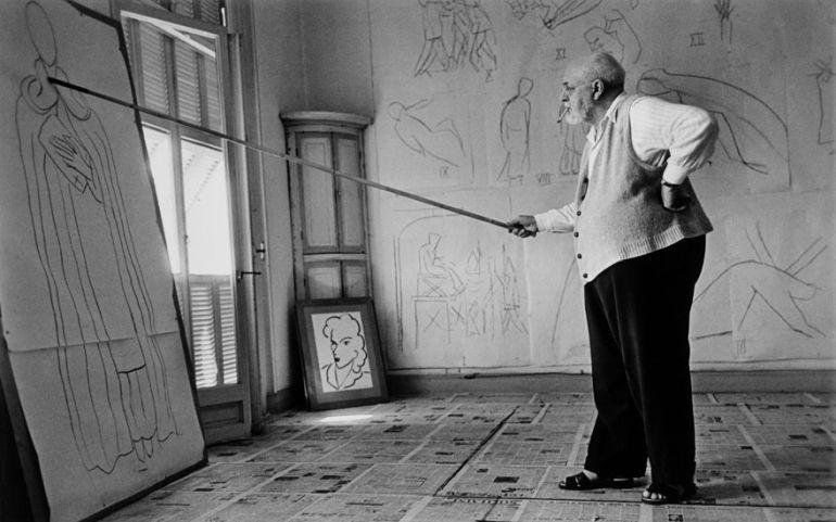 Henry Matisse 1869-1954 (foto de Robert Capa 1949)