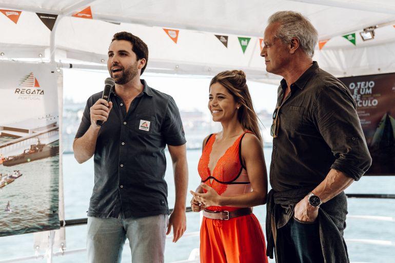 Francisco Melo e Castro, responsável pela organização do evento Isabel Silva e Ricardo Carriço