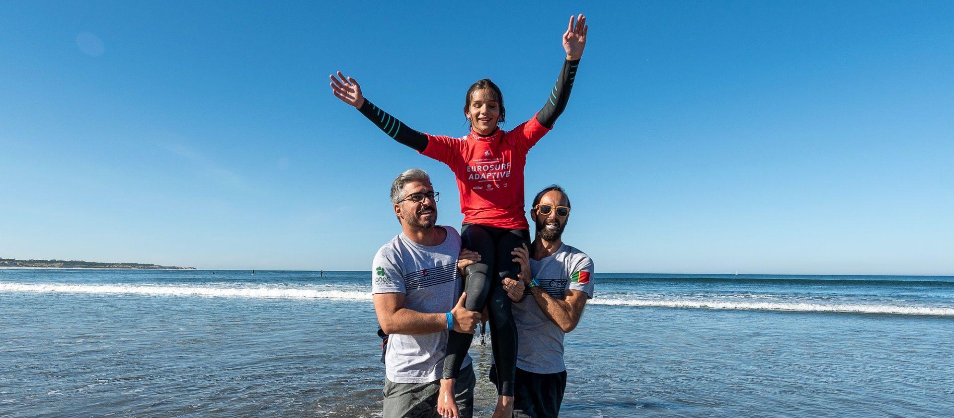 Marta Paço e Nuno Vitorino são campeões Europeus de Surf Adaptado