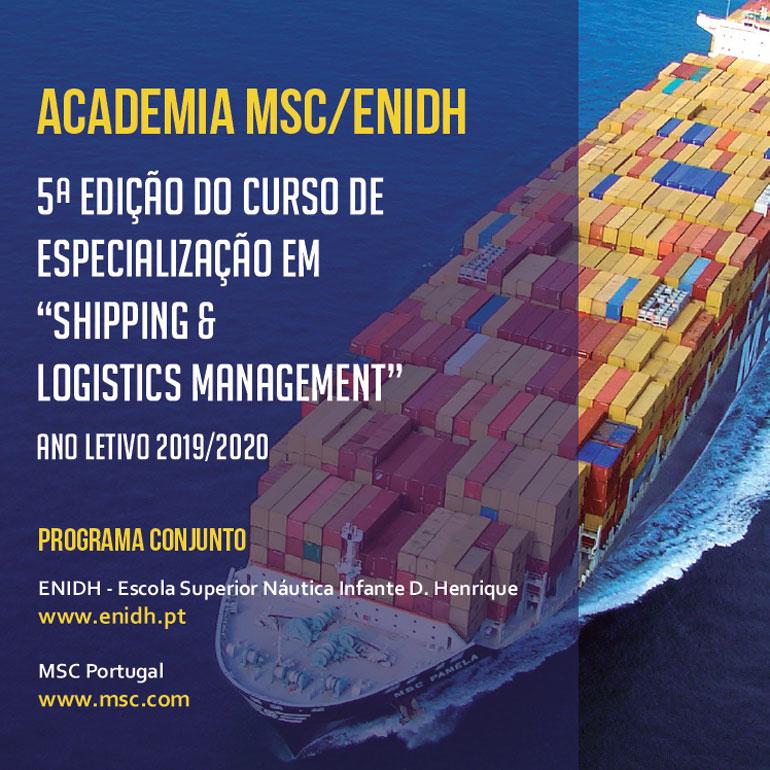 """""""Shipping and Logistics Management"""", pela Academia MSC/ENIDH (encerramento de candidaturas) 37"""