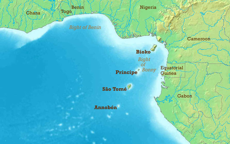 The Gulf of Guinea region (Wikimedia commons)