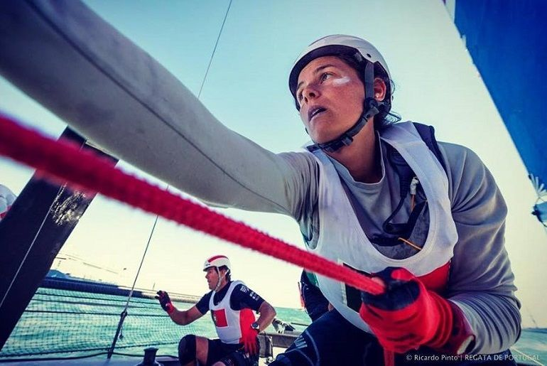 Mariana Lobato Mariana Lobato, responsável pelas Operações Mar da Regata de Portugal integrou a equipa World Match Racing Team (foto Ricardo Pinto, Regata de Portugal)