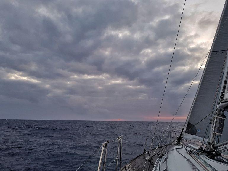 O pôr do Sol na viagem de regresso (foto da autora)