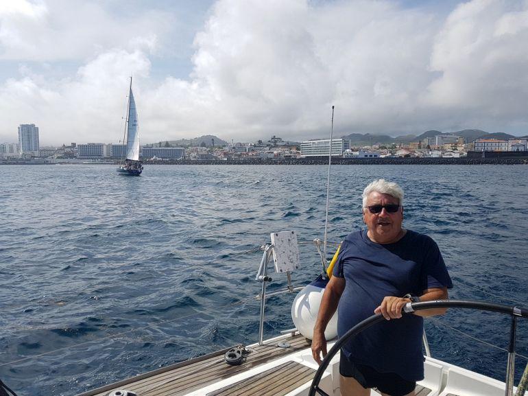 O comandante: Dr. João leal (foto da autora)