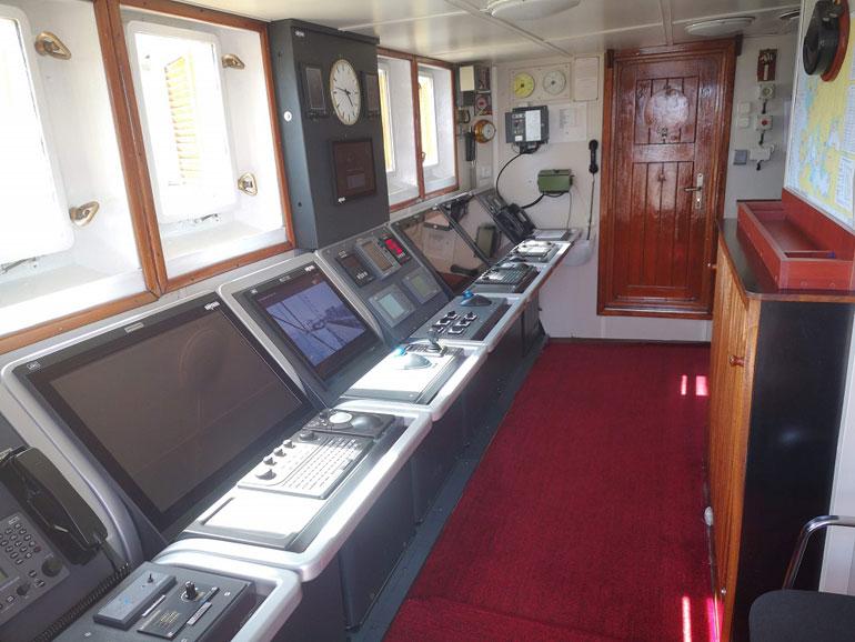 Casa de navegação do NS MIRCEA (foto do autor).