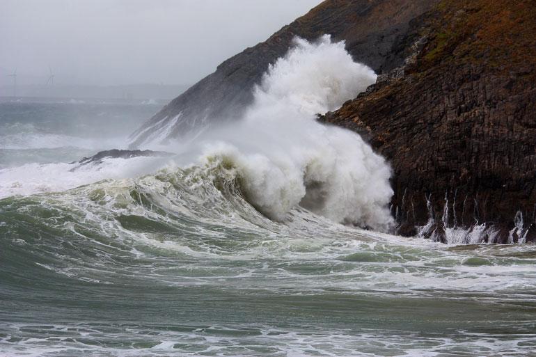 Mar rebentação