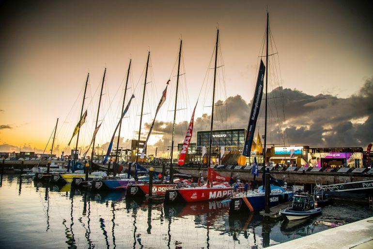 A frota da regata The Ocean Race será formada por barcos VO65 e IMOCA 60 e terá base em Porto Grande, no Mindelo, ilha de São Vicente. (foto Jesus Renedo/Volvo AB em Lisboa, 2017-18)