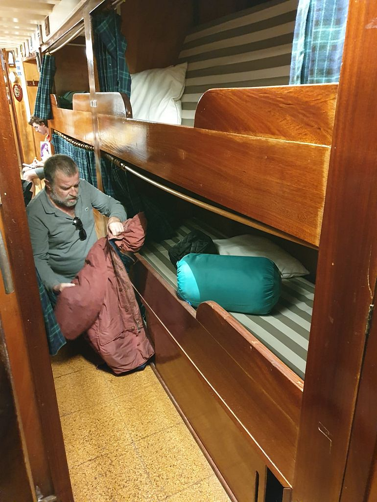 Arrumando os meus pertences (foto do autor)