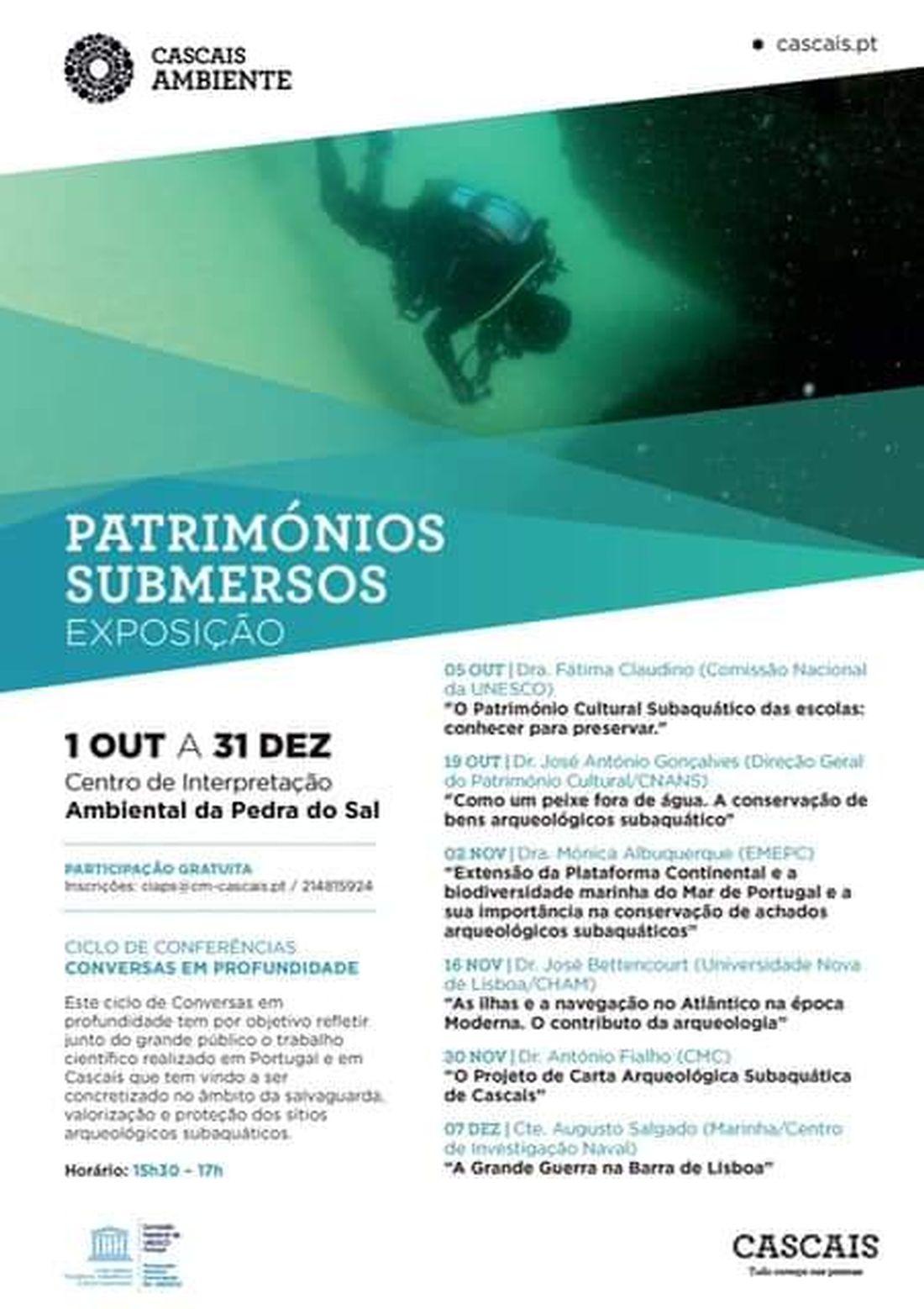 Exposição Patrimónios Submersos - Extensão da Plataforma Continental e a biodiversidade marinha do Mar de Portugal e a sua importância na conservação de achados arqueológicos subaquáticos 48