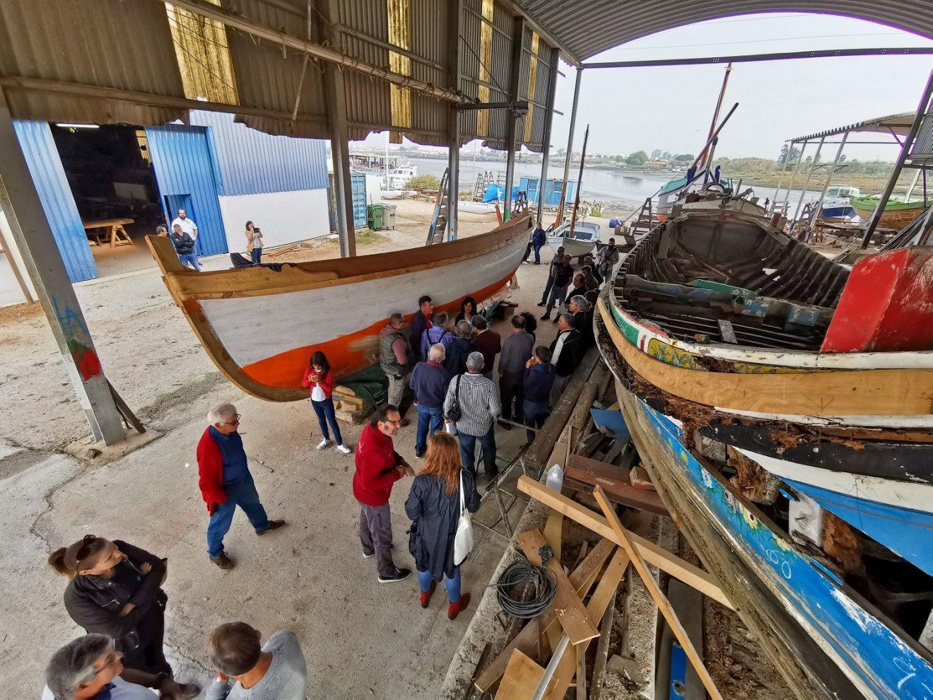 A visita ao Estaleiro Naval de Sarilhos Pequenos, mais conhecido pelo Estaleiro do Jaime Costa.