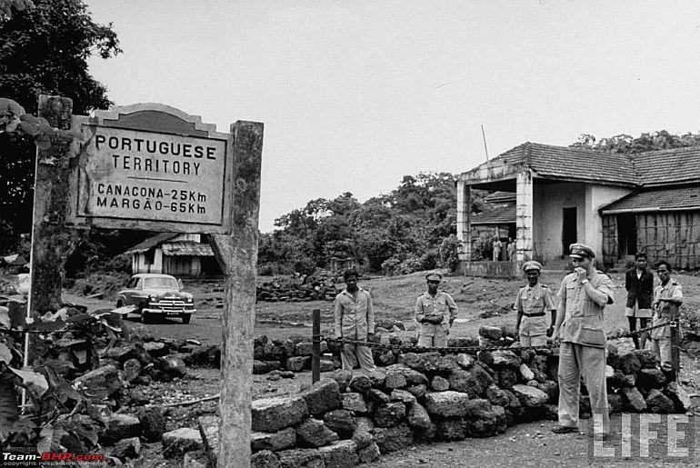 Fronteira portuguesa com a União Indiana 1950 (foto LIFE via Facebook Memórias da Índia Portuguesa)