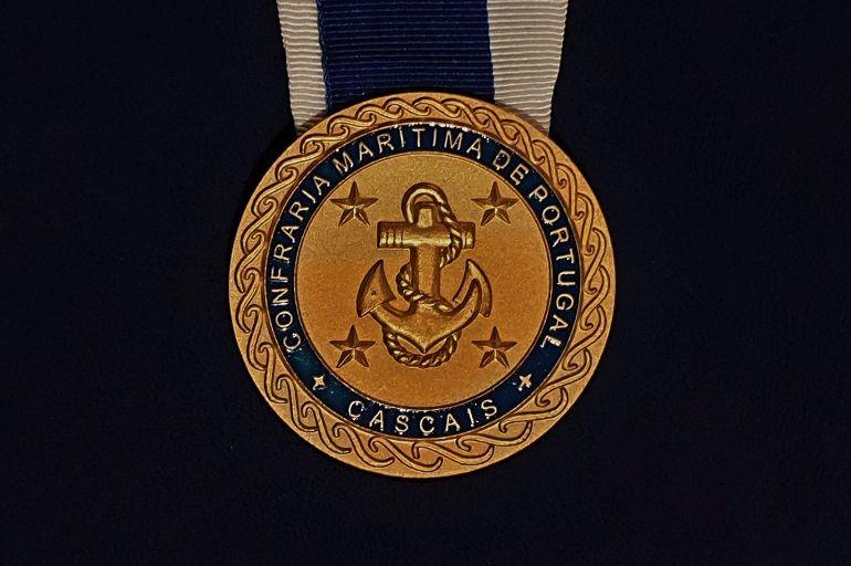 Medalha (Logo) da Confraria Marítima de Portugal (foto do autor)