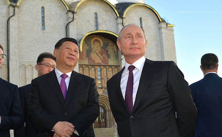 Xi Jinping e Vladimir Putin no Kremlin, em maio de 2019 (foto de Kremlin.ru)