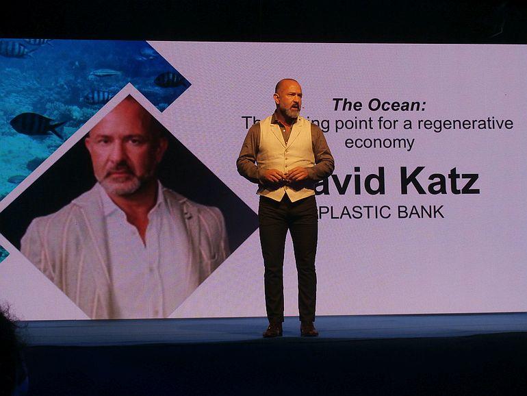 David Katz falou sobre as várias estraégias que podem ser adotadas para a sustentabilidade dos oceanos (imagem Reinaldo Delgado)