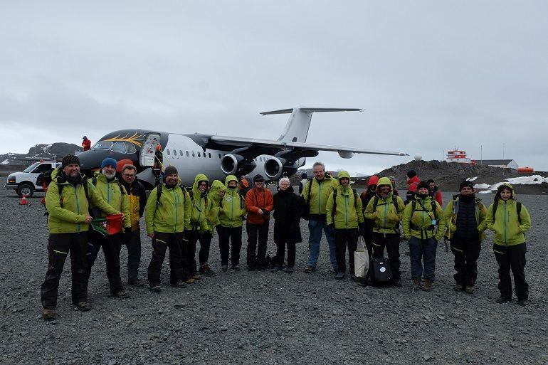 8º voo PROPOLAR, após aterragem no Aeroporto Teniente Rodolfo Marsh Martin, na ilha Antártica de Rei Jorge 2 Março 2019, Pedro Pina
