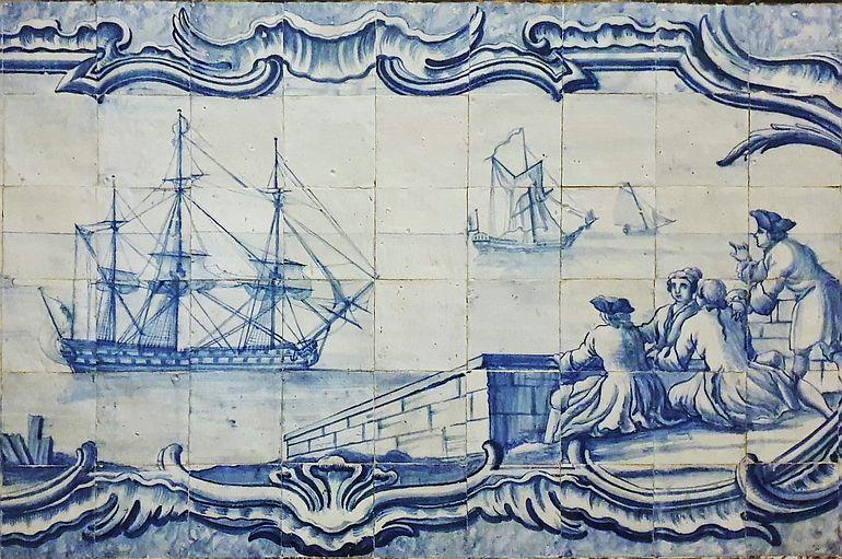Portugal não pode perder um olhar global sobre o mundo. Navio de linha português do século XVIII, Palácio do Marquês de Pombal (foto João Gonçalves)