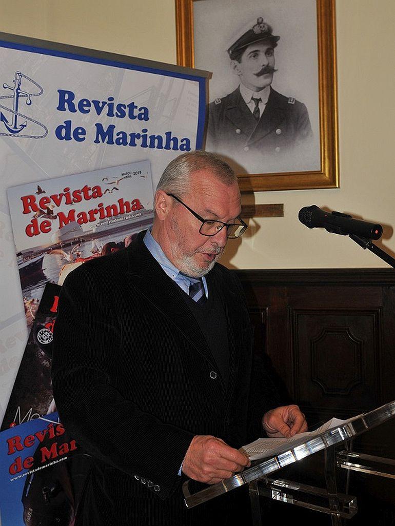 O Cmdt. Loureiro Nunes, leu uma mensagem do Dr. Duarte Bué Alves (foto Luís Miguel Correia)