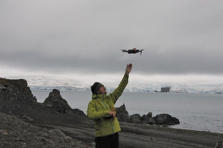 Voo de Drone, Ilha de Livingston, Antártida, 02 fevereiro 2020, Vasco Miranda