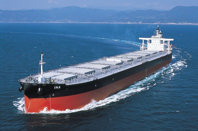 O navio graneleiro INA da empresa Portline Bulk, intl
