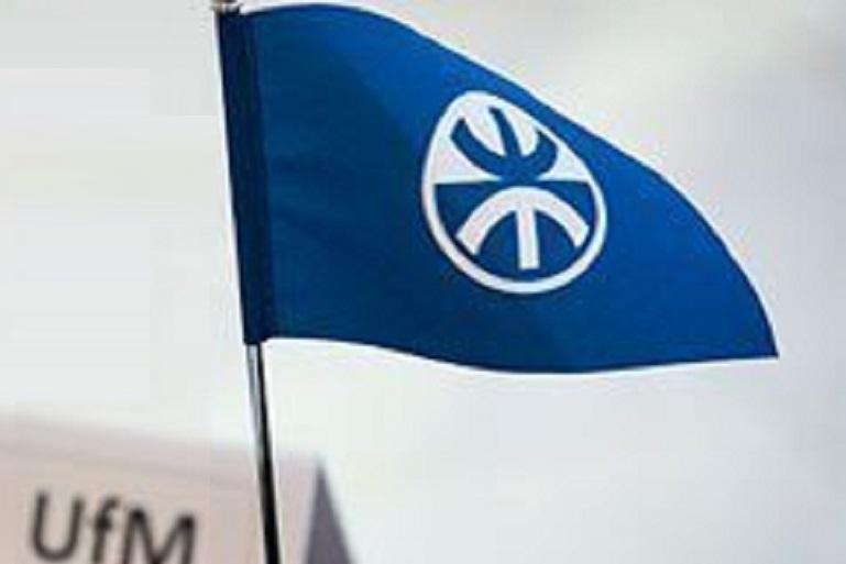 A bandeira da União para o Mediterrâneo