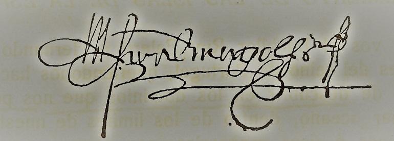 Assinatura de Fernão de Magalhães