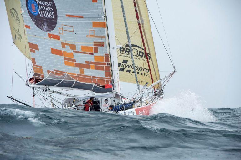 O veleiro LA FABRIQUE do skipper Alan Roura (imagem Arnaud Pilpré Studio Marléa)