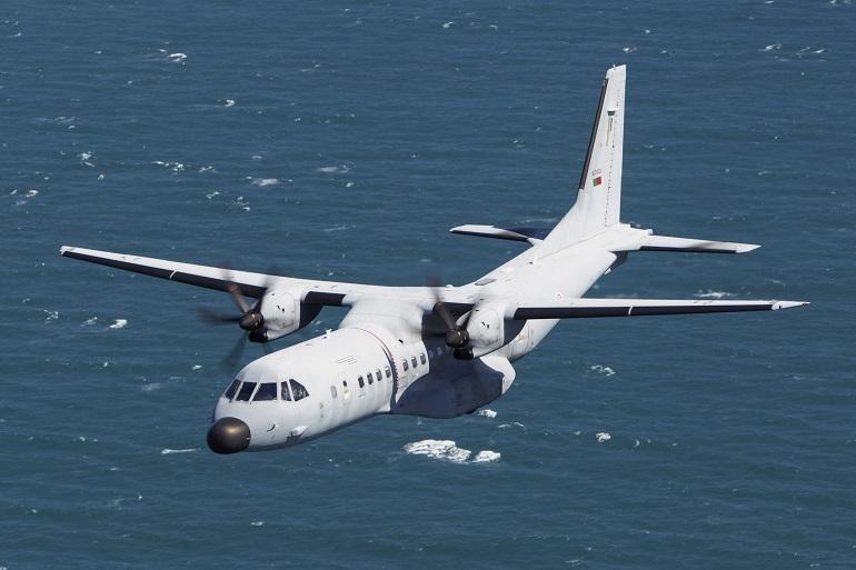 O avião de patrulha marítima Airbus C-295 da Força Aérea Portuguesa (imagem FAP)