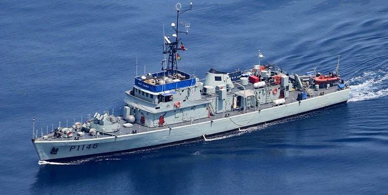O navio patrulha NRP ZAIRE, está baseado em S. Tomé e Príncipe. (imagem Marinha Portuguesa)
