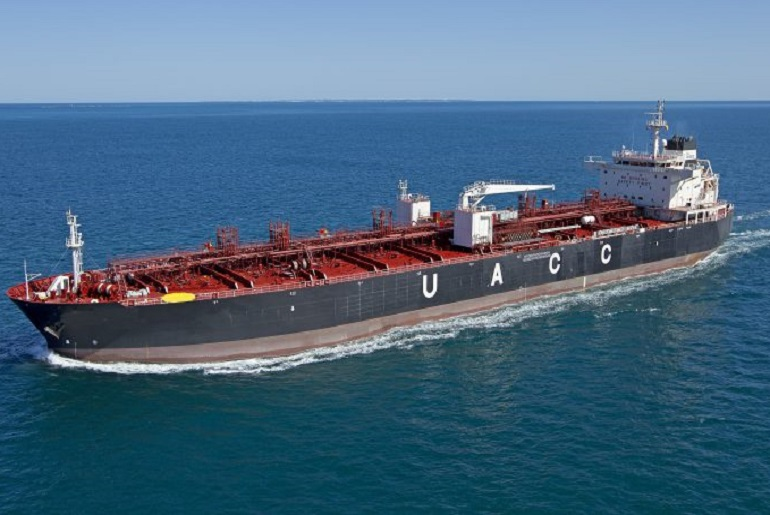 O navio tanque UACC MANSOURIA (imagem United Arab Chemical Carriers)