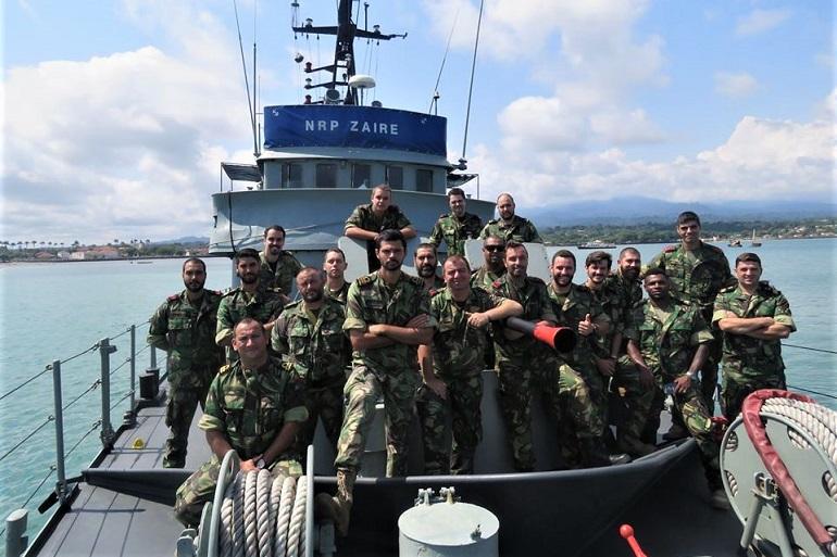 Portugal mantém uma presença permanente na zona do Golfo da Guiné, com o navio patrulha NRP ZAIRE, em S. Tomé e Príncipe. (imagem Marinha Portuguesa)