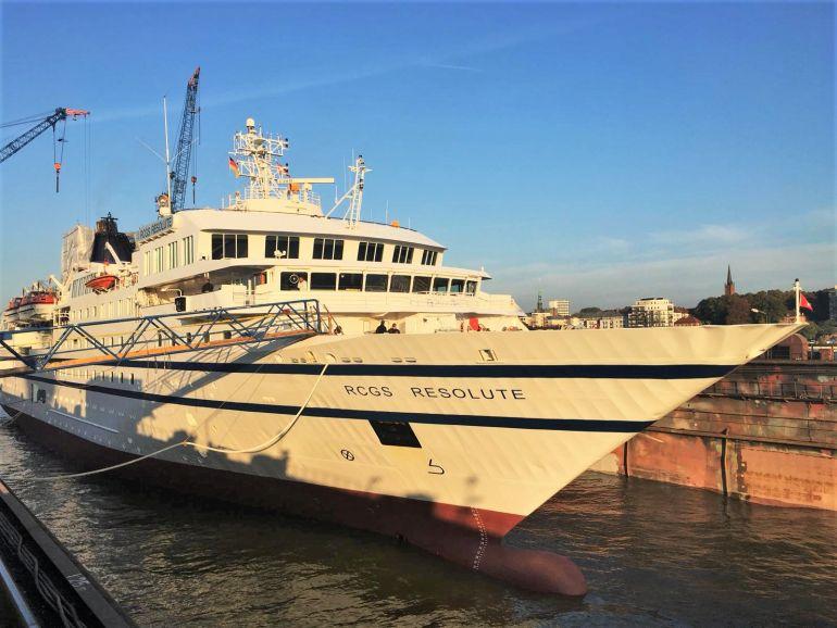 O bolbo de proa que terá provocado o rombo fatal para o AB NAIGUATÁ (imagem Columbia Cruise Servises)