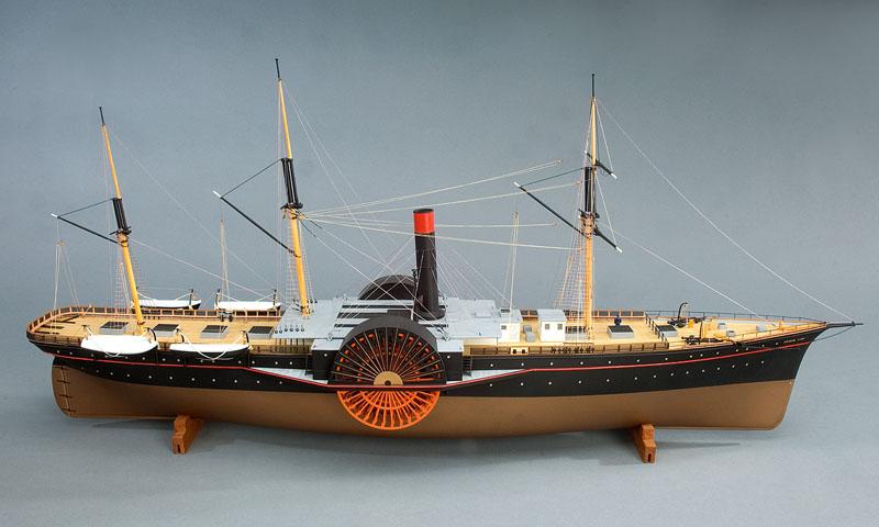 Um outro Vapor de rodar de três mastros, o Paddle steamer GEORGE LAW (imagem Smithsonian Institute)