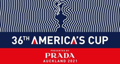 O logo da 36ª Taça da América, uma edição com o patrocinio da Prada.