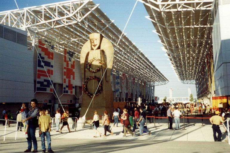 A EXPO 98 recebeu mais de 11 milhões de visitantes. (imagem nva.org.uk)