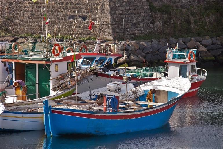 Embarcações de pesca em Ponta Delgada (Imagem de Bente Jønsson)