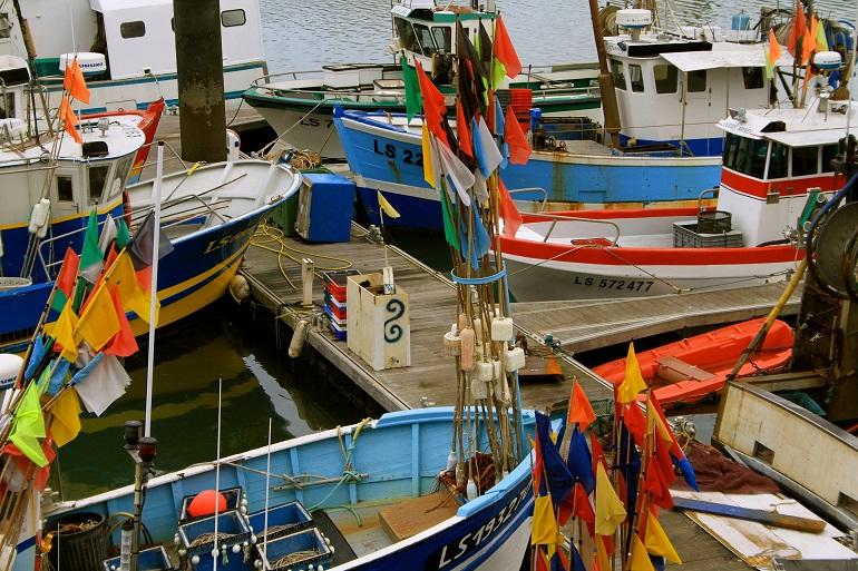 Embarcações de pesca francesas no porto de Les Sables-d'Olonne (Imagem de Philippe Hermann)