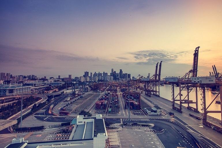 O porto de Keppel, Singapura (Imagem de koon boh Goh)