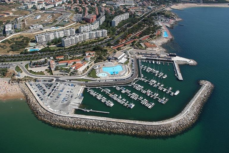 Vista aérea da Marina de Oeiras (imagem Oeiras Marina)