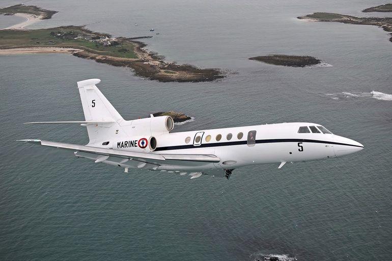 O FALCON 50M da Marine Nationale, veio a Lisboa proceder à evacuação dum militar frncês infetado com COVID-19 (imagem Dassault Aviation)