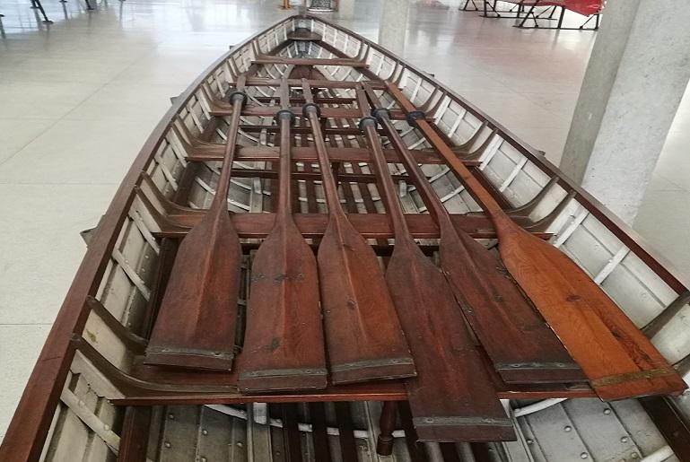 Pormenor do interior da GUIGA, em exibição no Pavilhão das Galeotas (imagem João Gonçalves)